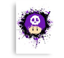 Abstract Super Mario Poison (purple) Mushroom Canvas Print