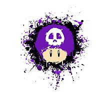 Abstract Super Mario Poison (purple) Mushroom Photographic Print