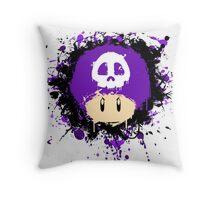 Abstract Super Mario Poison (purple) Mushroom Throw Pillow