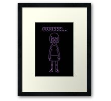 Tina Belcher Purple Framed Print