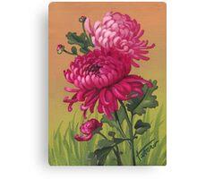 Chrysanthemum - acrylic painting Canvas Print