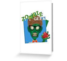 Zombie Geek Greeting Card