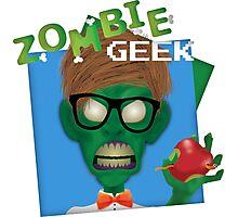 Zombie Geek Photographic Print