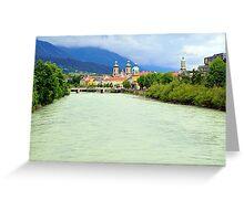 Innsbruck and Inn river, Tyrol, Austria Greeting Card