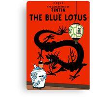 Tintin - The Blue Lotus Canvas Print