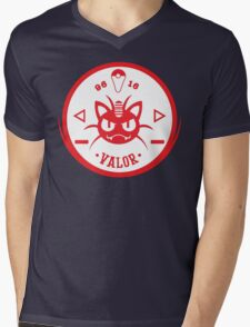 -GEEK- Team Valor Meowth Mens V-Neck T-Shirt
