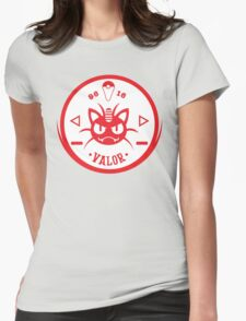-GEEK- Team Valor Meowth Womens Fitted T-Shirt