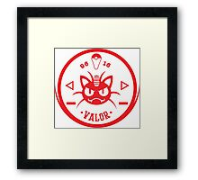 -GEEK- Team Valor Meowth Framed Print