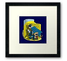 Calvin And Hobbes : Freezer Sneakers Framed Print