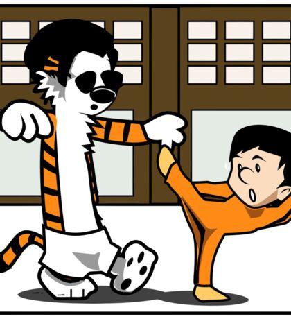 Calvin And Hobbes : Kungfu Master Sticker