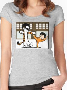 Calvin And Hobbes : Kungfu Master Women's Fitted Scoop T-Shirt