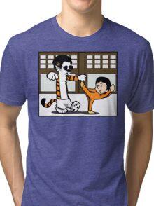 Calvin And Hobbes : Kungfu Master Tri-blend T-Shirt