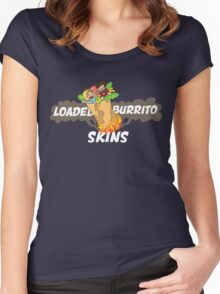 Loaded Burrito Skin Shirts Women's Fitted Scoop T-Shirt