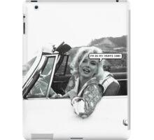 Marilyn Monroe -  I'm in my mum's car iPad Case/Skin