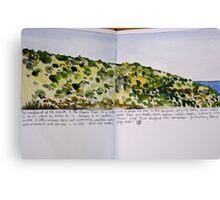 the headland: moore river Canvas Print