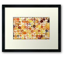 Fancy a Coffee? - orange-coloured splash Framed Print
