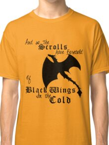 Black Wings In The Cold Classic T-Shirt