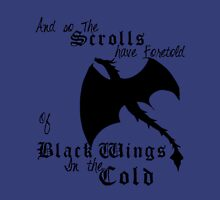Black Wings In The Cold Womens Fitted T-Shirt