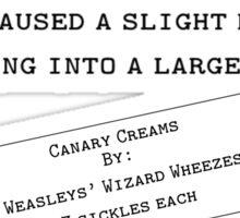 Canary Creams Sticker
