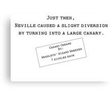 Canary Creams Canvas Print