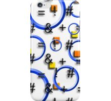 So Many Questions w/Blue Hoops, Yellow and Orange Squares iPhone Case/Skin