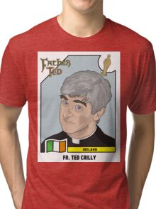 Father Ted Panini Sticker Tri-blend T-Shirt