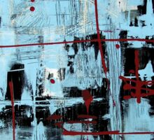 Abstract Blue with Red Sticker