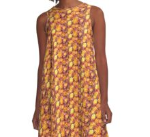 Orange Rose A-Line Dress
