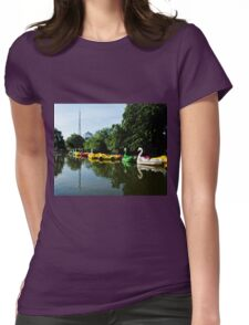 Boating lake at Alexandra Palace Womens Fitted T-Shirt