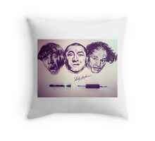 Three Stooges Tribute  Throw Pillow