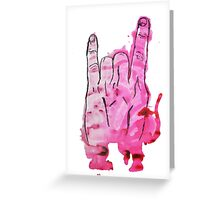 Rocking Devil's Fingers Greeting Card