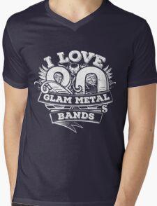I love 80s Glam Metal Bands Mens V-Neck T-Shirt