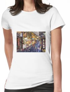 Rainy Melbourne Womens Fitted T-Shirt