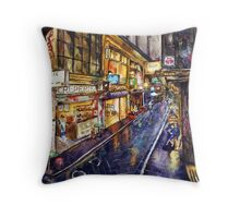 Rainy Melbourne Throw Pillow