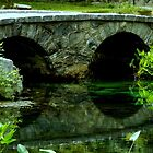 Rock Bridge in the Country - Reflection by ctheworld
