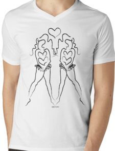 Heart Song ~(c) 2013 LMG Mens V-Neck T-Shirt