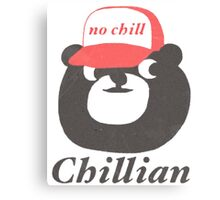 no chill bear Canvas Print