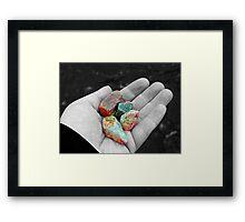 Loch Ness rocks Framed Print