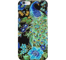 Peacock on Black iPhone Case/Skin