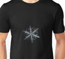 Leaves of ice, snowflake macro photo Unisex T-Shirt