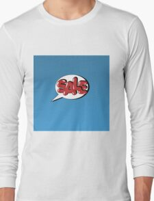 Bubble with Expression Sale in Vintage Comics Style Long Sleeve T-Shirt