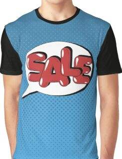Bubble with Expression Sale in Vintage Comics Style Graphic T-Shirt