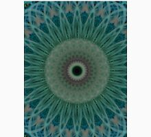 Flowery mandala in green blue and gray colors Unisex T-Shirt