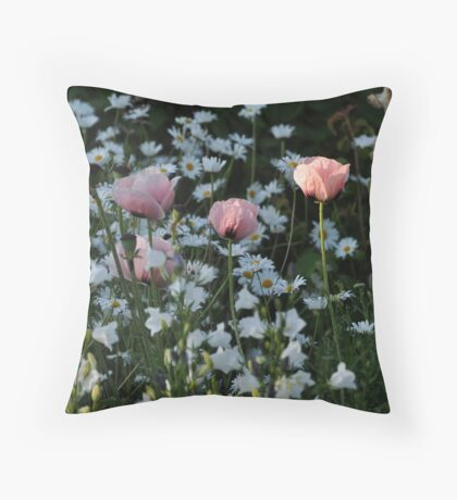 Ballet Now Showing  - The Pink Poppy Throw Pillow