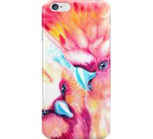 pink parrots iPhone Case/Skin