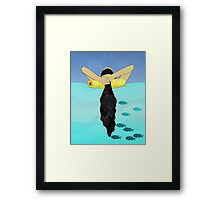 Floating Your Cares Away Framed Print