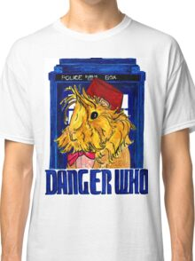 Danger Who, the Eleventh Guinea Pig Doctor Classic T-Shirt