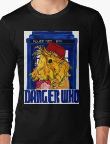 Danger Who, the Eleventh Guinea Pig Doctor Long Sleeve T-Shirt