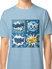 Set of Comics Bubbles in Vintage Style. Expressions Dream, Poof, Bam, Crash Classic T-Shirt