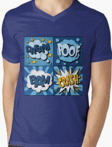 Set of Comics Bubbles in Vintage Style. Expressions Dream, Poof, Bam, Crash Mens V-Neck T-Shirt